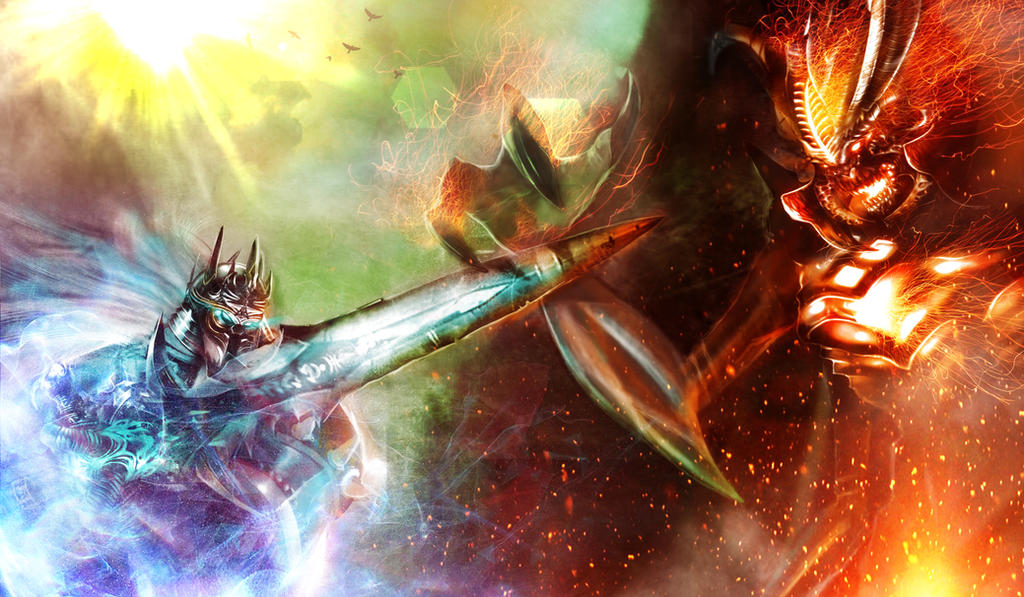 Arthas vs. Diablo by jshoemake15