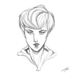 Face study-- sketch