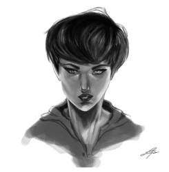 Face study-- painted