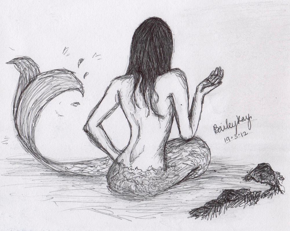 Mermaid Sketch :) by baileyray on DeviantArt
