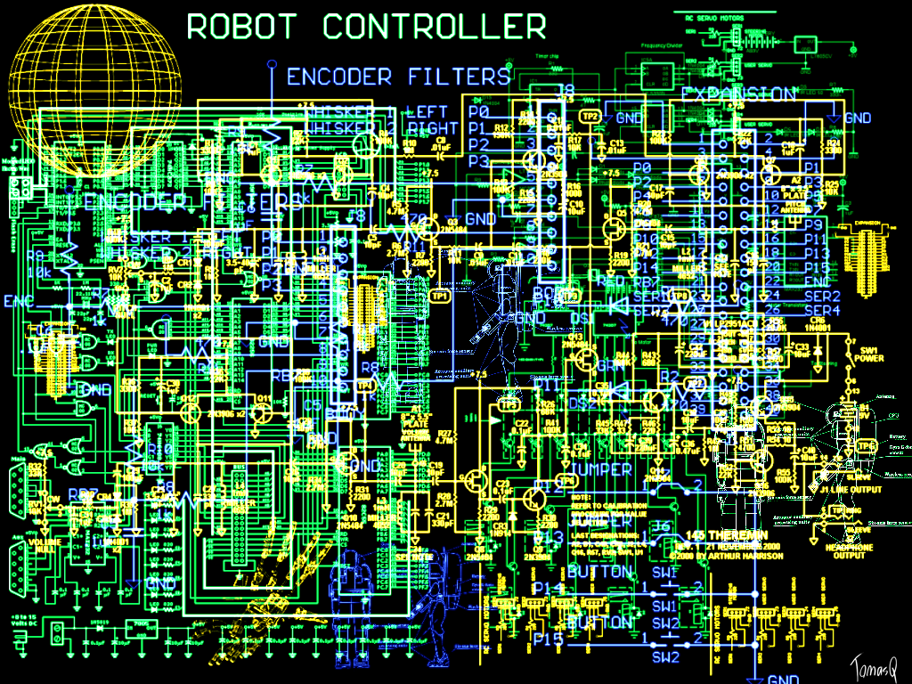 Electronic schematic wallpaper by TomasQ on DeviantArt