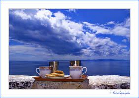 Greek coffee on Mount Athos by papadimitriou