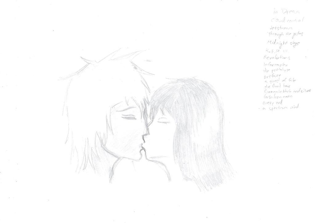 2 people kissing by dark-pinapple on deviantART