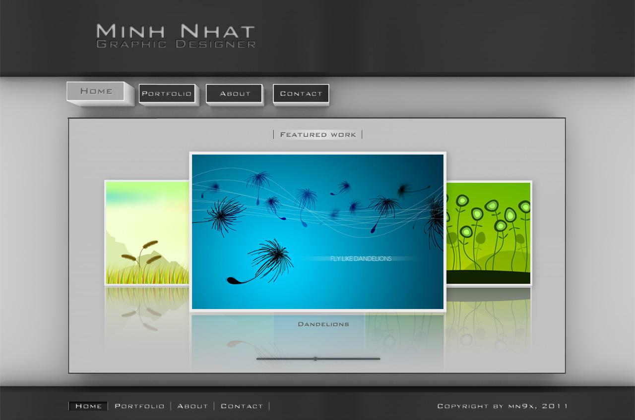3D portfolio website by mn9x on DeviantArt