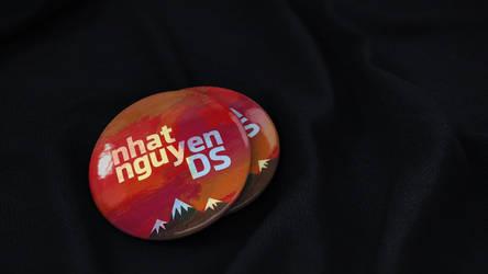 Pin badge PSD free mockup