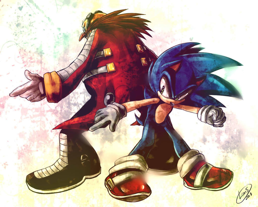Sonic and Eggman by LeonStar123