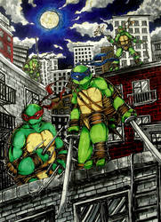 [TMNT] Night guards by LeonS-7