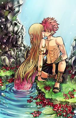 Natsu X Lucy mermaid