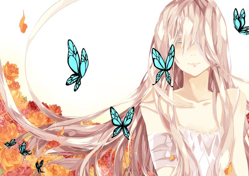 Alma with butterflies by Kura-ouji