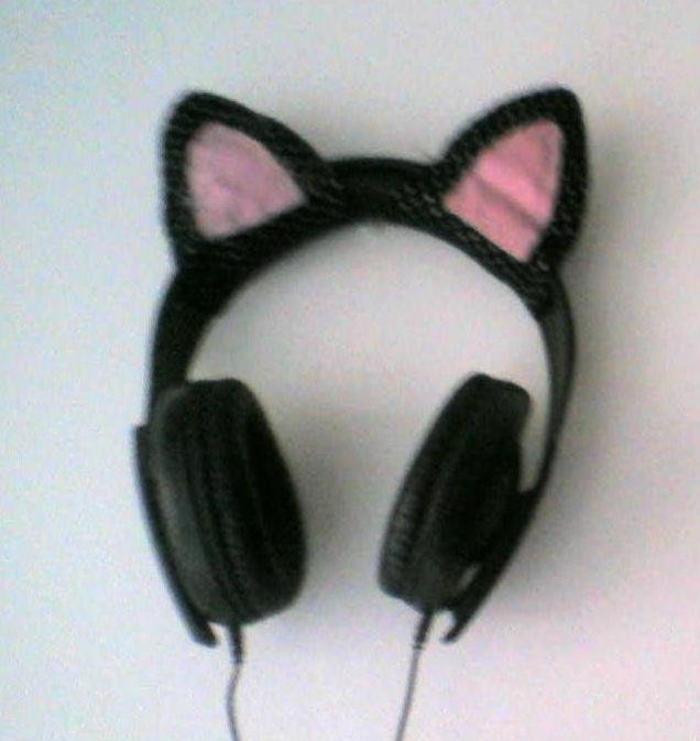 Headphones Cats Glasses Nekomimi Girl Meganekko Anime Girls