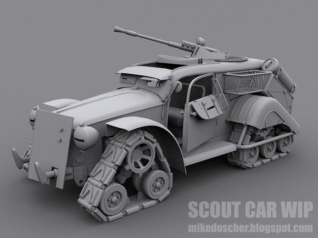 Scout Car WIP Model by MikeDoscher