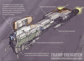 Tramp Freighter by MikeDoscher