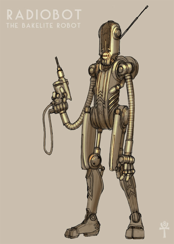 Bakelite Robot by MikeDoscher