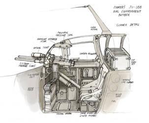 Space Stuka Gunner Detail by MikeDoscher