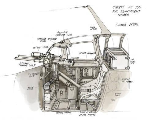 Space Stuka Gunner Detail