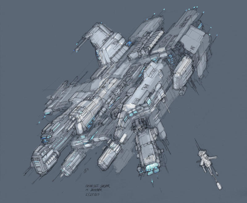 Space Station Concept by MikeDoscher on DeviantArt