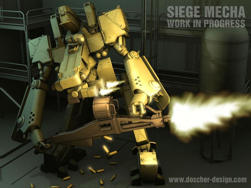 Siege Mecha WIP III by MikeDoscher