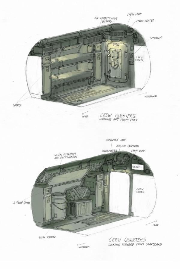 'Arken' Crew Quarters by MikeDoscher