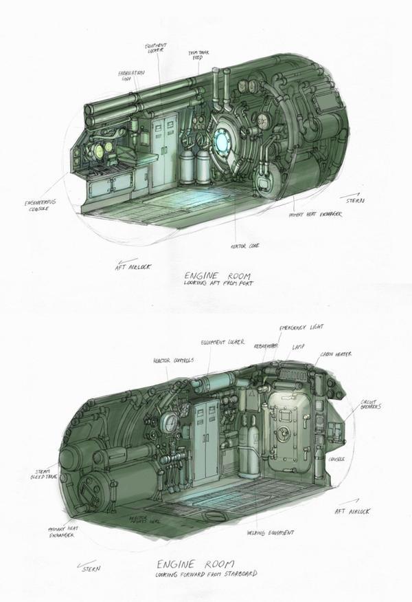 'Arken' Engine Room by MikeDoscher