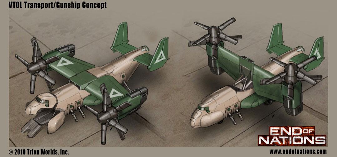 VTOL Gunship by MikeDoscher
