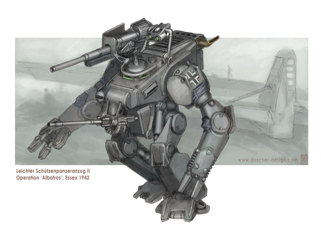 Leichte SPzA-II Armored Suit by MikeDoscher