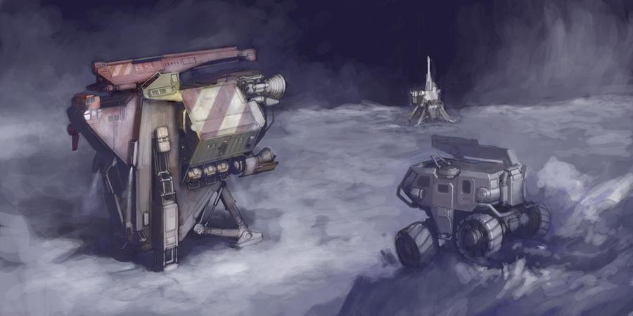 Drillship Scene WIP 03 by MikeDoscher