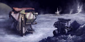Ice and Smoke- Enceladus by MikeDoscher