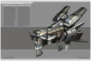 Grendel Class Assault Cutter by MikeDoscher