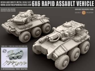6X6 Rapid Assault Vehicle 28mm Miniature by MikeDoscher