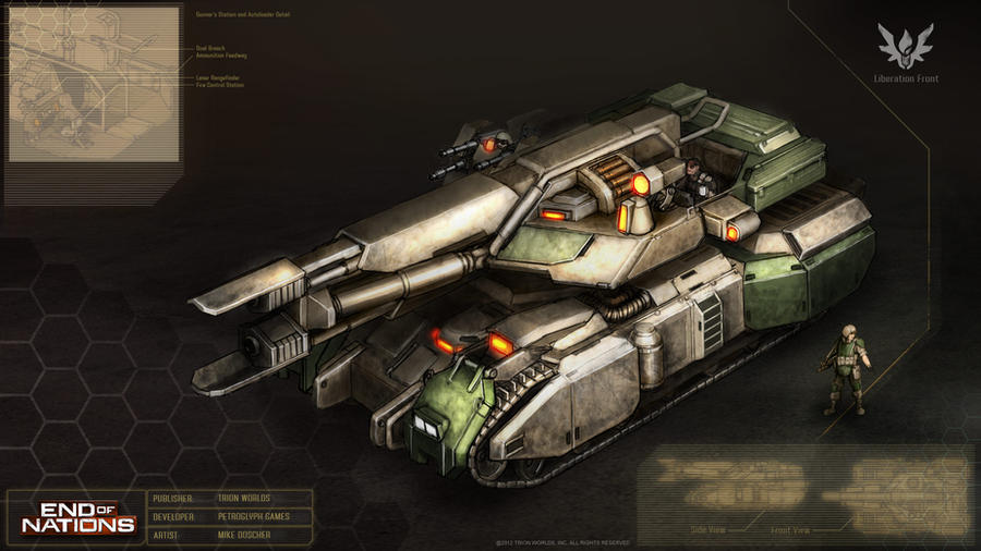 Titan Tank Concept by MikeDoscher