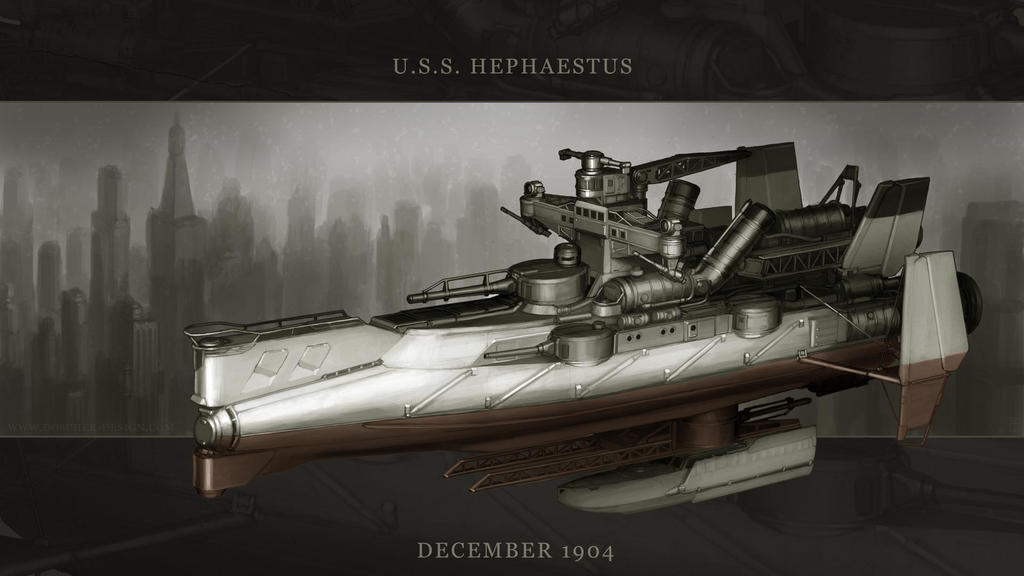 USS Hephaestus by MikeDoscher