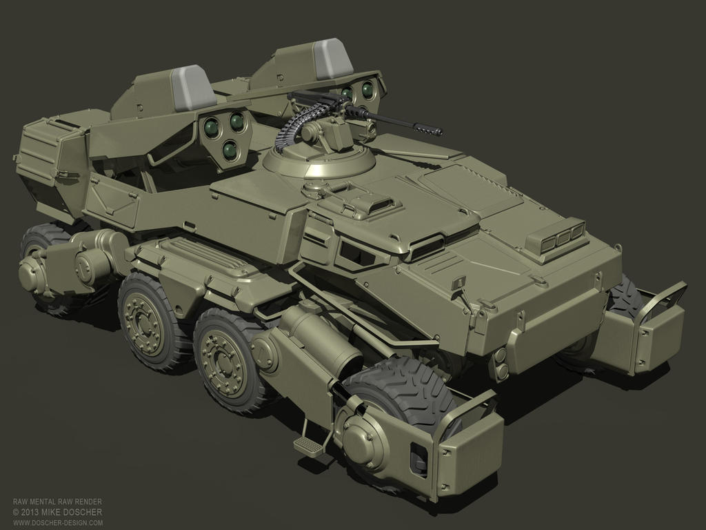 M26 Pershing - Sida 3 Spider_tank_raw_render_by_mikedoscher-d604dk1
