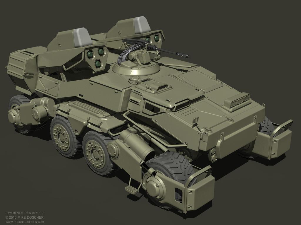 Spider Tank Raw Render by MikeDoscher