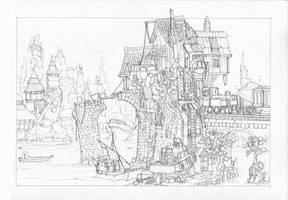 Tumbletown - Pencil Sketch