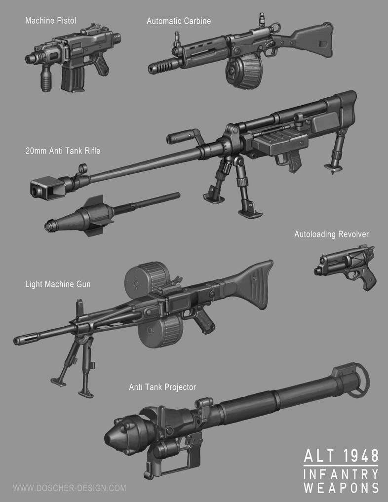 Alt 1948 Infantry Weapons by MikeDoscher