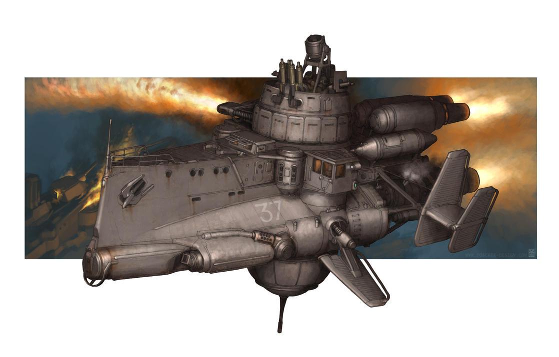 Pluton Class Fire Thrower by MikeDoscher