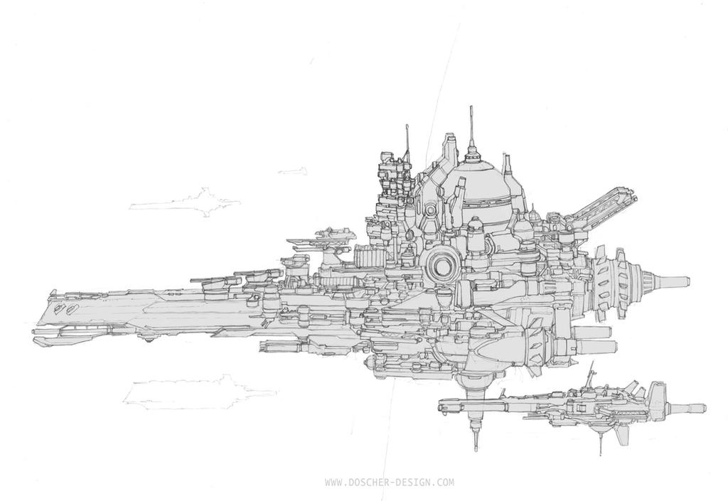 Dreadnought Dev Sketch 01 by MikeDoscher
