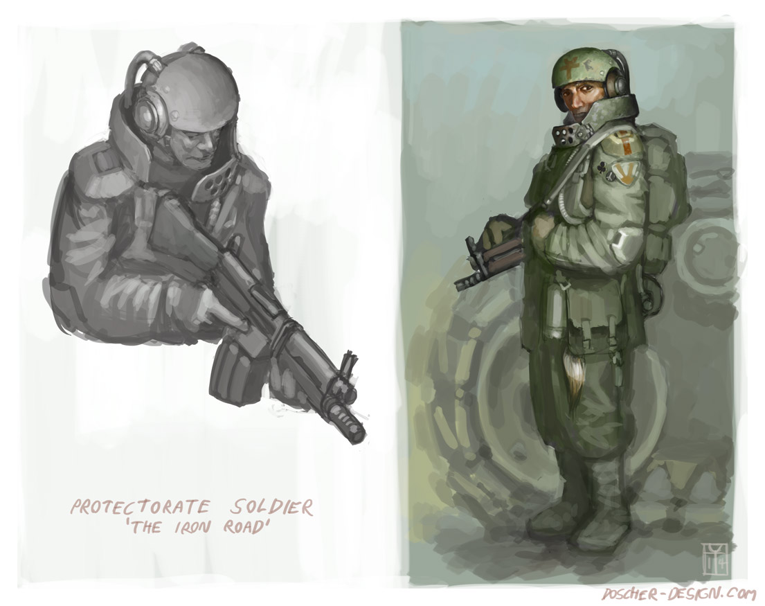 Etongi Soldier Study by MikeDoscher