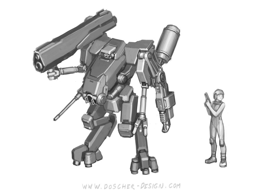 Mech Study by MikeDoscher