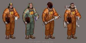 Space Suit Concept Variations