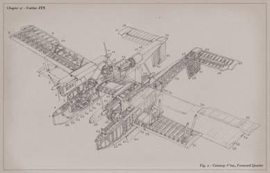 Curtiss JTN Rocket Bomber - Cutaway View by MikeDoscher
