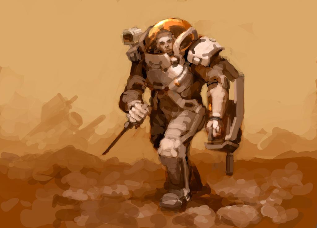 Armored Spacesuit