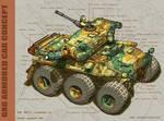 6x6 Armored Car Concept