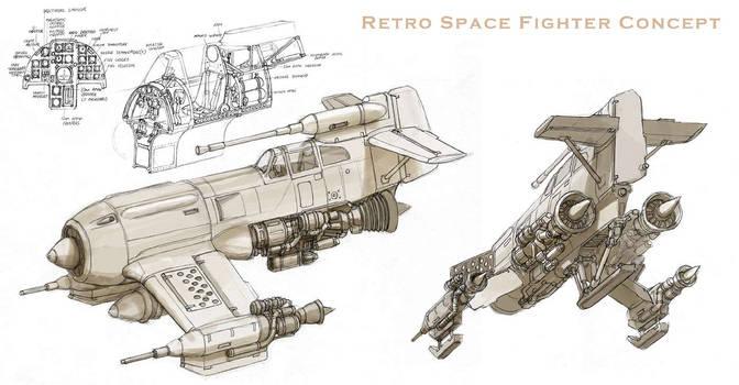 Piranha Fighter Concept by MikeDoscher