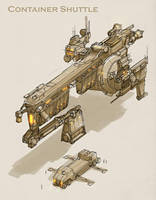 Container Shuttle Concept by MikeDoscher