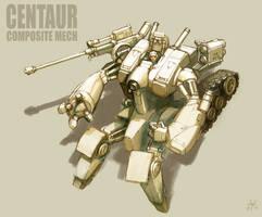 Centauroid Mech by MikeDoscher