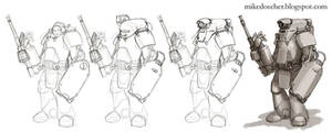 Armor Suit Concept Progression by MikeDoscher