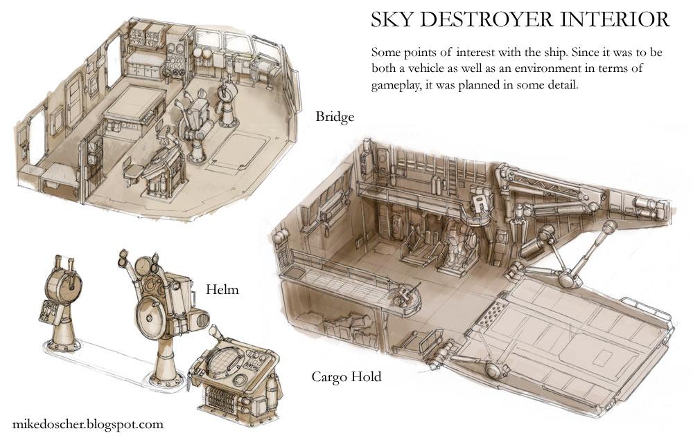 Sky Destroyer Interior Details by MikeDoscher