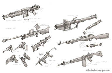 Rebel Weapon Concepts by MikeDoscher