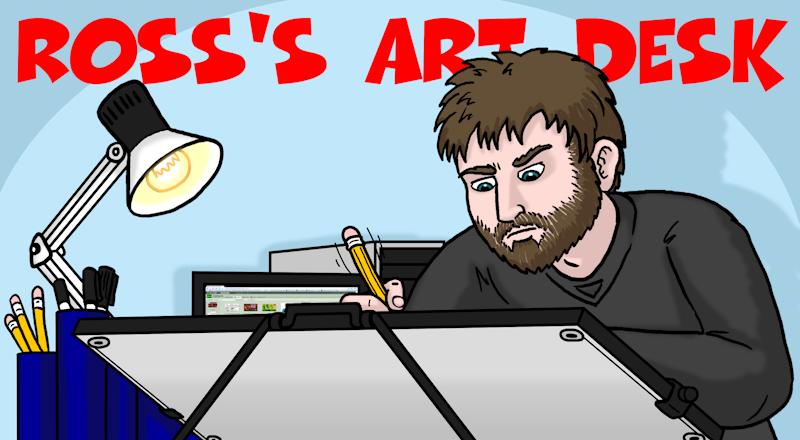 Ross's Art Desk Deviant ID by Ross-Sanger